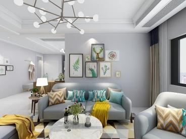 新惠家园三室二厅130平装修效果图