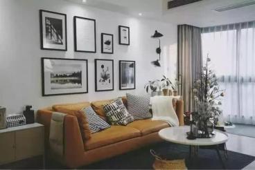 新世纪花园现代简约客厅效果图