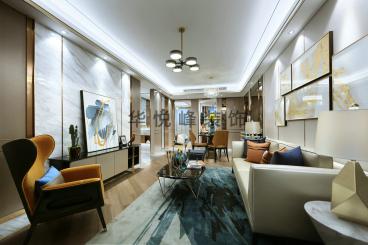 世纪中央城后现代三室二厅装修效果图
