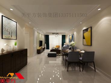 华润·橡树湾三室一厅135平装修效果图