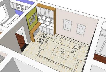 远洋新村二室二厅现代简约装修效果图
