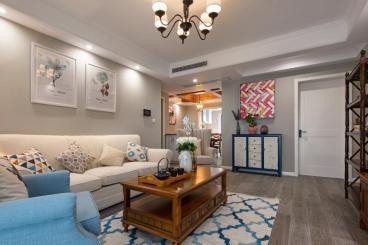 润城二期美式三室二厅装修效果图