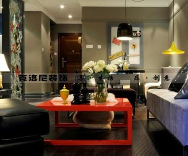 金科米兰公寓新古典一室一厅装修效果图