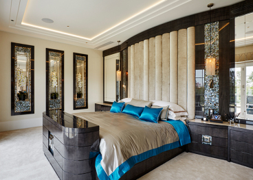 三利宅院二期现代简约卧室效果图
