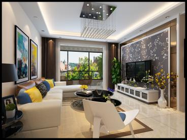 春晖家园全包三室一厅装修效果图