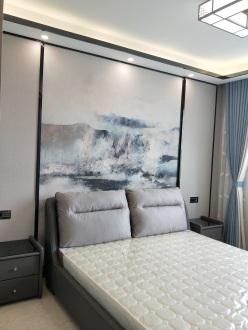 华夏新村公寓新中式卧室效果图