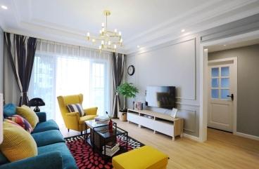 盛和世纪三室一厅135平装修效果图