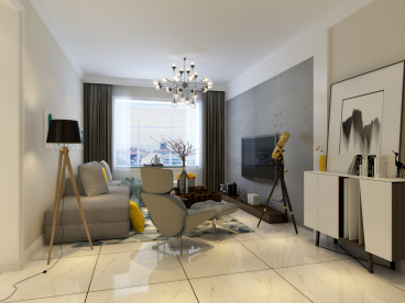 金福园92平二室一厅装修效果图