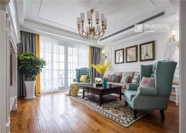 紫鑫国际公寓二室一厅78平装修效果图