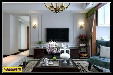 金科城120平三室二厅装修效果图