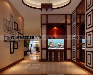 蠡湖一号(1)新中式廊道效果图