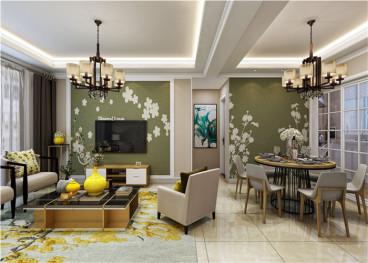 通和易居同辉现代简约三室二厅装修效果图