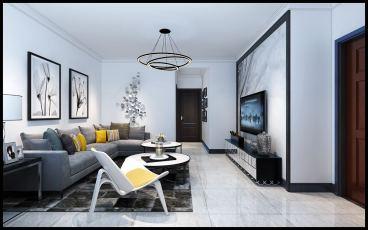 龙城天悦全包二室一厅装修效果图