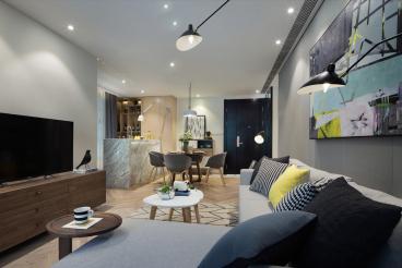 福佳新城二室一厅后现代装修效果图