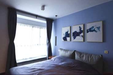 豪城花园后现代卧室效果图