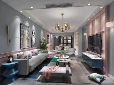 蓝光帕提欧全包二室二厅装修效果图