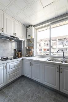 望月公寓美式厨房实景图