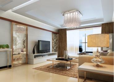 清华大溪地现代简约三室二厅装修效果图