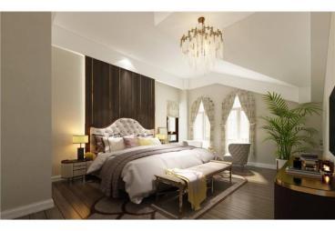 蓝光和雍锦园美式卧室效果图