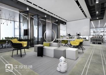 青岛崂山区财富中心现代简约650平装修效