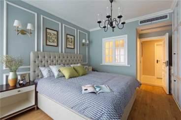 鲁能星城九街区美式卧室效果图