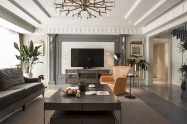 普利美式客厅效果图