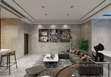 翡丽澜湾别墅八室四厅现代简约装修效果图