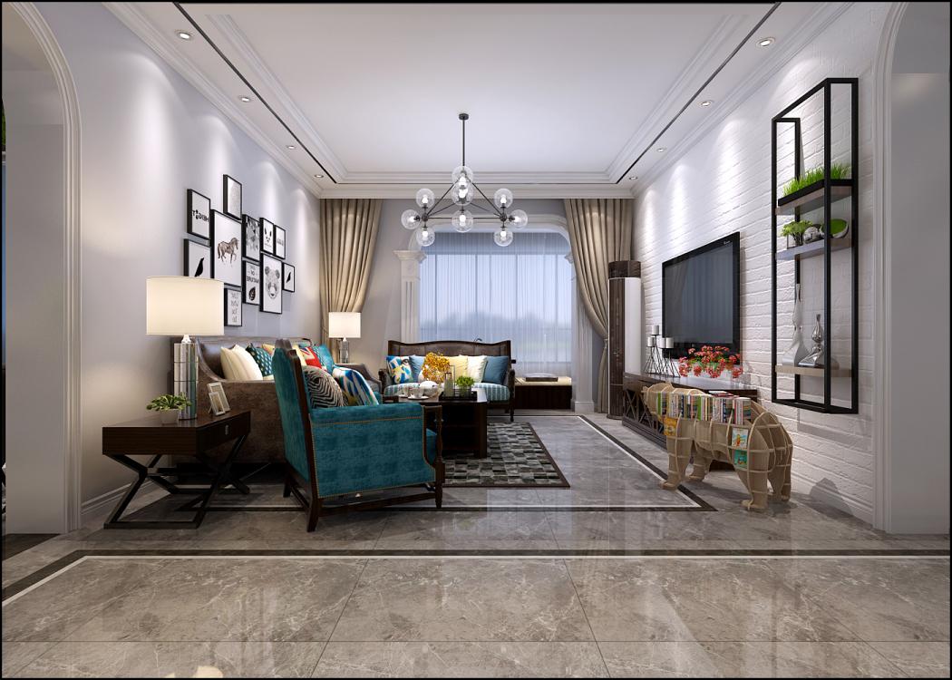 月明湾120平三室二厅装修效果图
