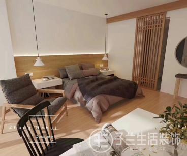 中国铁建国际城日式卧室效果图