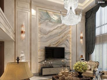 福清自建欧式古典客厅效果图