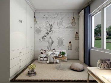 安瑞家园时尚混搭卧室效果图