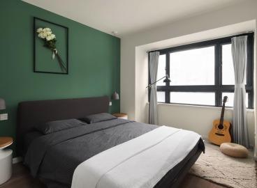 保利百合花园现代简约卧室效果图