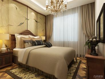 夏洛兹花园中式卧室效果图