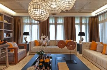 金泰国际新古典客厅效果图