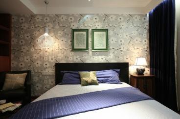 首创鸿恩中心新中式卧室效果图