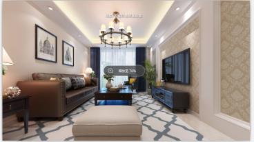 中海阳光玫瑰园欧式古典客厅效果图