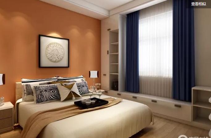 建板新苑现代简约卧室效果图