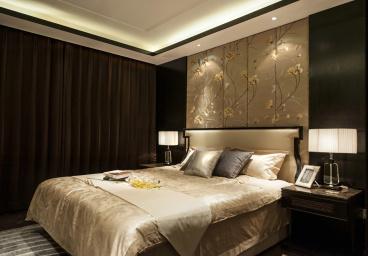 保利爱尚里一期新中式卧室效果图