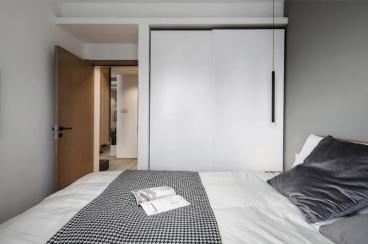 保利江上明珠乐园现代简约卧室效果图