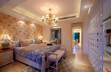 保利江上明珠乐园美式卧室效果图