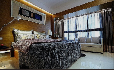 正商林语溪岸现代简约卧室效果图