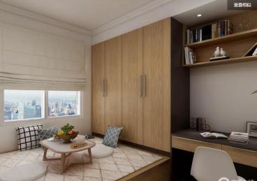 建板新苑现代简约书房效果图