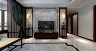 汇景园中式客厅效果图
