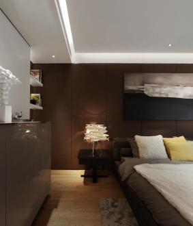 金科中心后现代卧室效果图