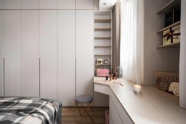 新兴白云花园现代简约卧室效果图