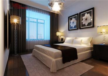 湖畔嘉苑两居室现代简约卧室效果图