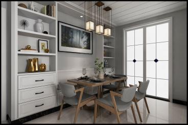 汶上纯设计三室二厅装修效果图