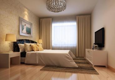 恒盛皇家花园现代简约卧室效果图