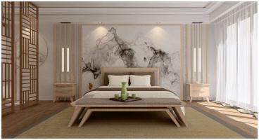 山水湖滨花园日式卧室效果图