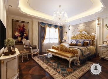 景楓加州城歐式古典臥室效果圖
